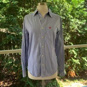 American Eagle Slim Fit Pinstriped Button Down
